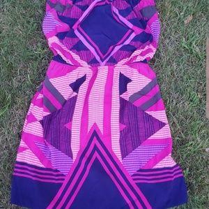 Express geometric bright dress